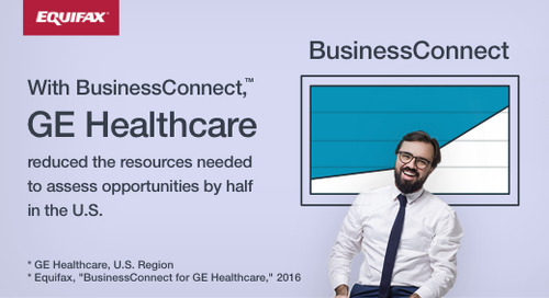 BusinessConnect Helped GE Healthcare Reduce Resources Needed