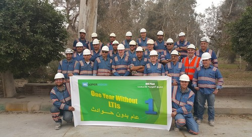 NLSupervision Egypt celebrating one year without LTI (Lost Time Incidents) at the National Cement Company (NCC) site