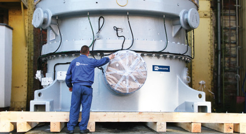 Larger gear drives for larger vertical roller mills