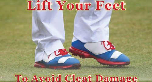Please Lift Your Feet ~ Protect Your Greens