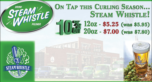 Steam Whistle Now on Tap in the Curling Lounge!