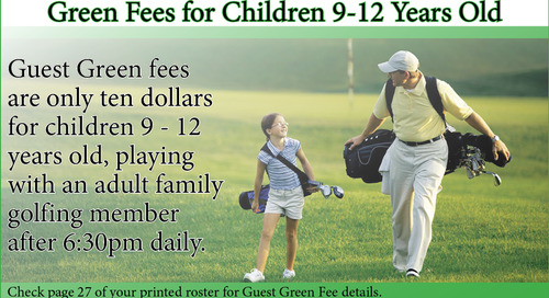 Green Fees for Children 9 - 12 Years Old