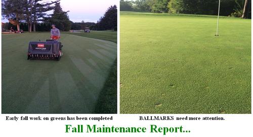Fall Maintenance & Ballmarks