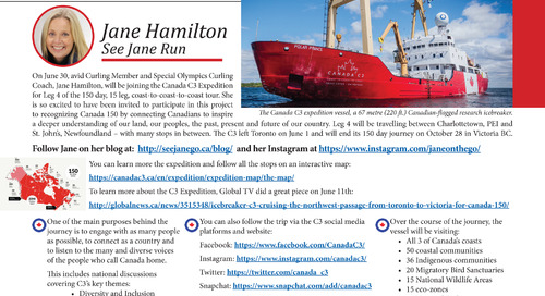 Member Jane Hamilton's C3 Expedition Adventure!