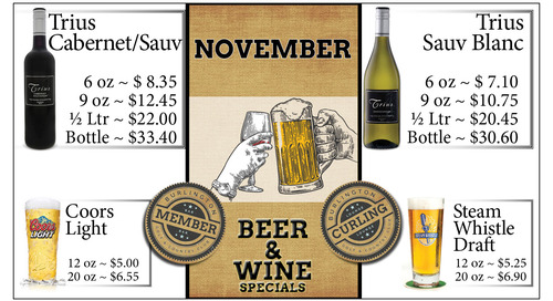 November Beer and Wine Specials