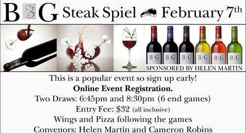 B & G Steak Spiel ~ February 7th