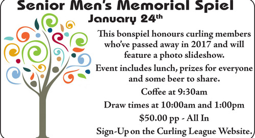 Senior Men's Memorial Bonspiel ~ January 24th