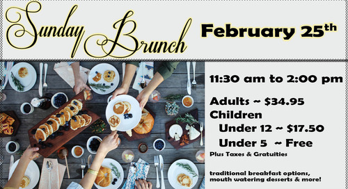 Sunday Brunch ~ February 25th