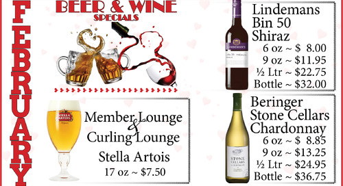 February Beer & Wine Special