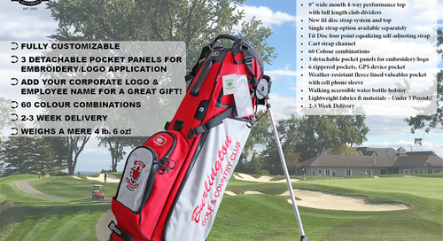 OGIO Customizable Golf Bag ~ Only Weighs 4lb. 6oz!
