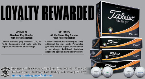 Titleist Loyalty Rewarded ~ ProV1 & ProV1X