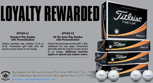 Titleist Loyalty Rewarded ~ ProV1 & ProV1X ~ UNTIL April 30th