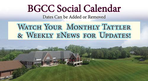 2018 Social Calendar