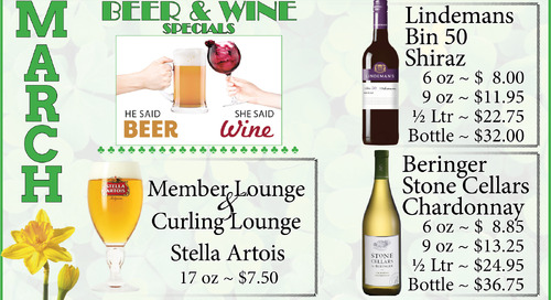 March Beer and Wine Specials