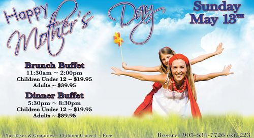 Mother's Day, Sunday, May 13th