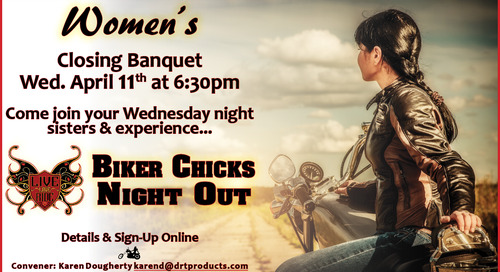 Women's Curling Closing Banquet ~ Wednesday, April 11th