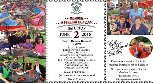 Member Appreciation Day ~ June 2nd