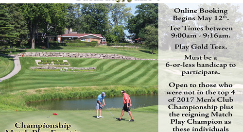Men's Match Play Qualifying ~ Saturday, June 9th