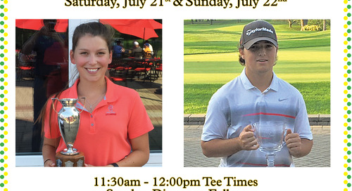 Junior Club Championship ~ July 22nd & 23rd