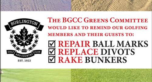 Golf Course Etiquette ~ 3Rs ~ Repair ~ Replace ~ Rake