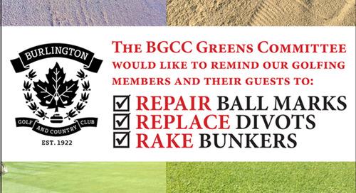 Golf Course Etiquette ~ 3Rs ~ Repair ~ Replace ~ Rake