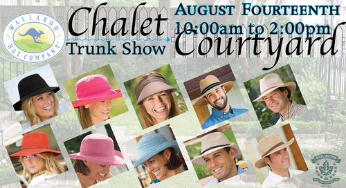 Wallaroo Hats ~ Trunk Show ~ August 14th