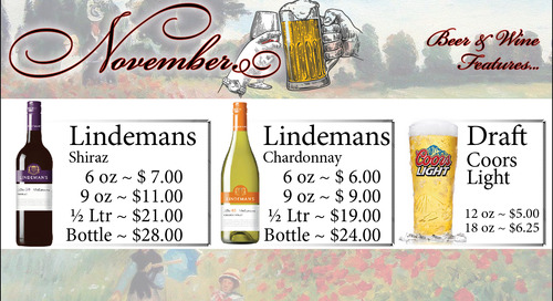 November Beer and Wine Features