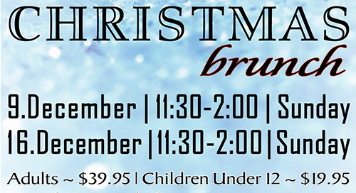 Christmas Brunch Buffets ~ December 9th and 16th