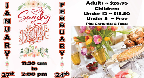 Winter Buffet Brunches ~ January 27th & February 24th
