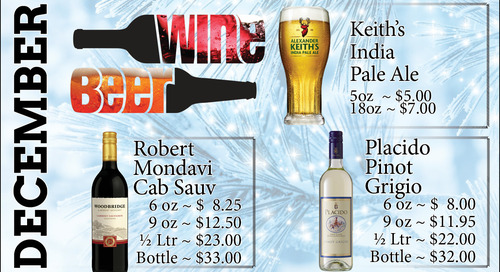 December Beer and Wine Features