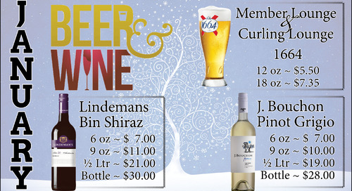 January Beer and Wine Specials