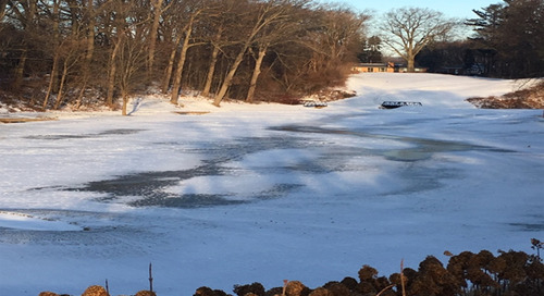 ICE COVER ON #16 FAIRWAY