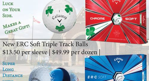Limited Edition Callaway Shamrock Chrome Soft & ERC Triple Track