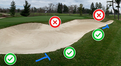 "Turf Bulletin ~ ""T"" Marks the Spot ~ Bunker Rake Placement"