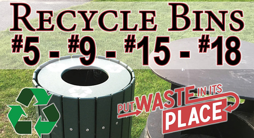 Recycle Bins on the Course ~ Holes #5, #9, #15 & #18