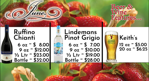 June Beer and Wine Specials