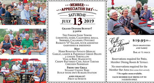 Member Appreciation Day ~ July 13th