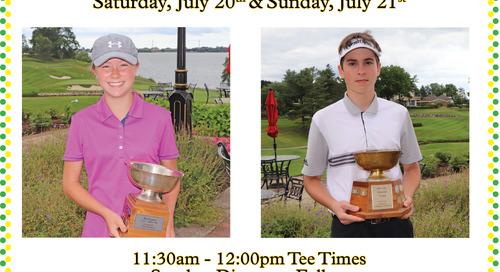Junior Club Championship ~ July 20/21