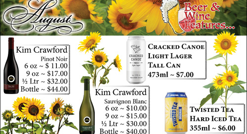August Beer and Wine Specials