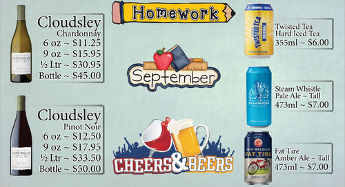 September Beer and Wine Specials