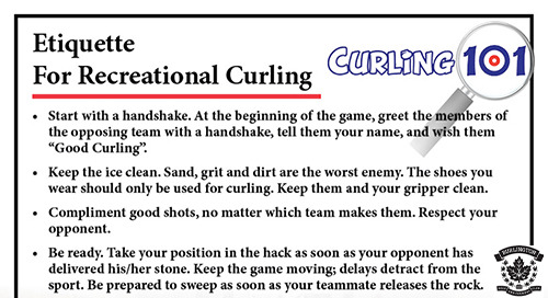 Recreational Curling Etiquette