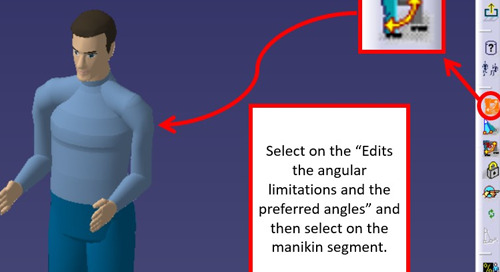 How to establish preferred angles for human manikins in CATIA V5