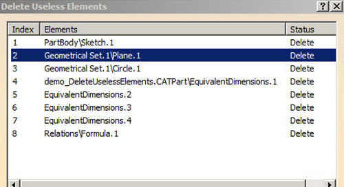 CATIA V5-6 Tip: Deleting Unused Features from the Specification Tree