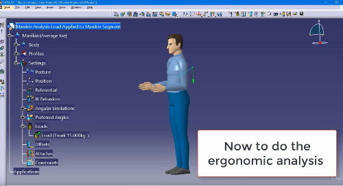 CATIA Demo: Manikin Load Analysis using the CATIA Human Builder Workbench