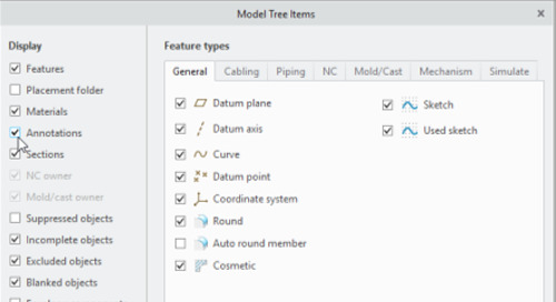 Updating Legacy Datums to Datum Feature Symbols in Creo Parametric 4.0+