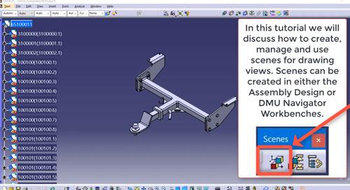 Creating and Managing Scenes in CATIA V5