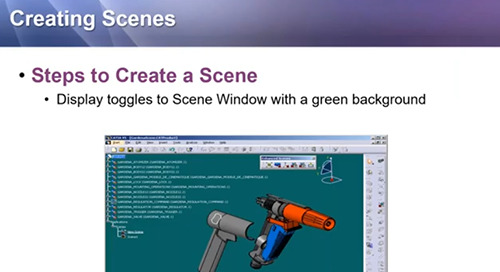 Scene Creation and Application in CATIA V5