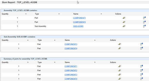 Creo Parametric Tip: Information About Bill of Materials (BOM) Report Formats