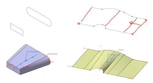 Creating Multi Section Features in CATIA V5 and the 3DEXPERIENCE