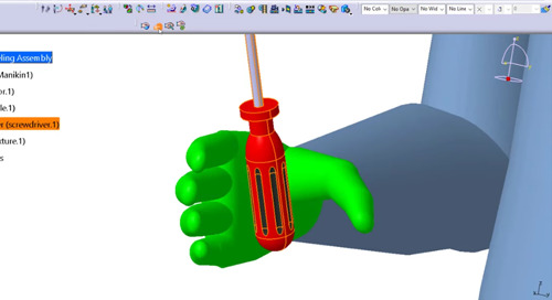 Executing a Manikin Hand Grasp in CATIA V5
